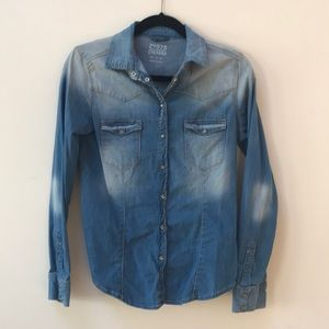 Zara Denim snap shirt